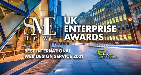 e4k Awarded as Best International Web Design Service in 2021 Thumbnail